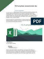 Conheça 15 Funções Essenciais Do Excel