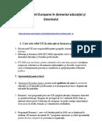 Politica Uniunii Europene În Domeniul Educaţiei Şi Tineretului (4)