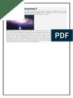 Bio Astronomy