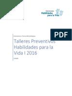 Orientaciones Talleres Preventivos HpV I 2016