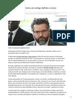 Huffpostbrasil.com-Ernesto Araújo Como Um Artigo Definiu o Novo Chanceler