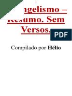 Evangelismo Resumo Sem Versos 12.2x9.2 Helio