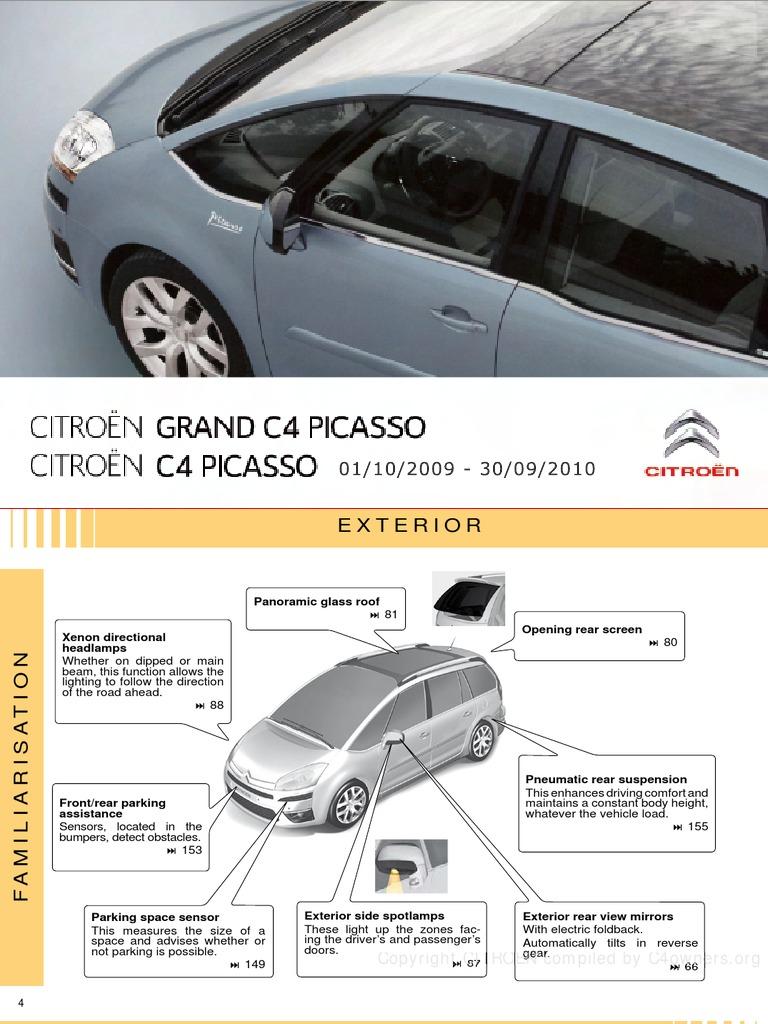 citroen-citroen c4 picasso user manual pdf   manual transmission    automatic transmission
