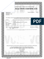 Royal-DWP mark 30-2520-839, 2018 Org Trans Cert