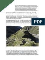 Monumento de Arquitectura Inca a 100 Kilómetros de La Vía Cusco