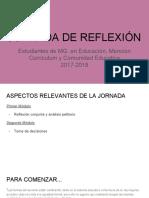 Jornada reflexiva 2018 MGECCED