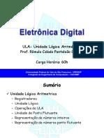 2 - ULA- Unidade Lógica Aritmética