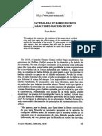 ARANA, Juan, Es La Naturaleza Un Libro Escrito en Caracteres Matematica