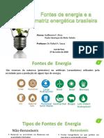Seminario Fontes de Energia QUI163 1S2018