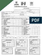 Examen Medico Escolar Formato SEP