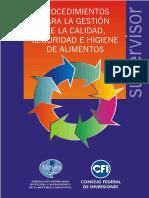 Procedimientos Para La Gestión de La Calidad, Seguridad e Higiene de Alimentos - CFI