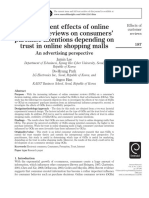 The Different Effects of Online Consumer Reviews on Consumers' Purchase Intentions