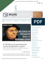 A Influência Do Pensamento Social de Martinho Lutero _ NAPEC