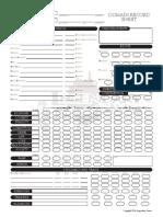 Domain Record Sheet