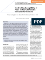 Solidification Cracking Susceptibility of Ni30Cr Weld metals - J.C. Lippold