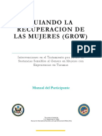 Grow Trauma Participant Manual - Spanish