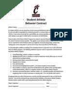 Brazos Student Athlete Behavior Contract