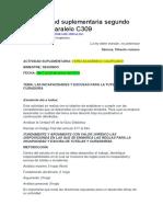 Actividad Suplementaria Segundo Bimestre Paralelo C309