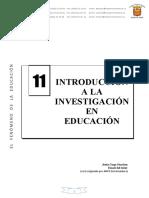 U.D. 11_INTRODUCIÓN A LA INVESTIGACIÓN EN LA EDUCACIÓN