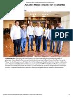 07-01-2019 El gobernador Héctor Astudillo Flores se reunió con los alcaldes panistas.