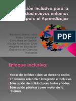 Educacion Inclusiva y entornos para el aprendizaje