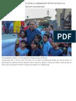 07-01-2019 Sonrisas y mucha felicidad logra el gobernador Héctor Astudillo al convivir con cientos de niños en Chilpancingo.