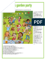 Picture Description a Garden Party One on one Activities