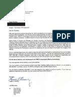 Burdette Termination Letter