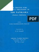 Pristine Pure Philosophy Sankara Siddhanta