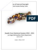 Deadly Force Statistical Analysis