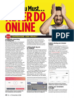 What Your Must Never Do ONLINE