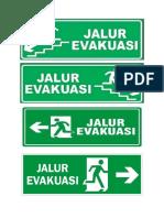 jalur evakuasi