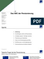 Das ABC Der Pensionierung