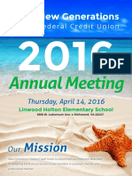 New Generations Federal Credit Union Anual Report 2015