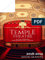 The Temple Theatre 2018-19 Season Guide