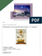 Destino e Tarô_ Combinações Lenormand_Baralho Cigano – 17. Cegonha