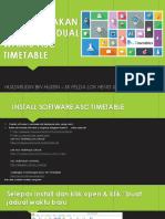 Manual Penggunaan ASC Timetable