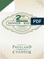 Freeland Community Chamber of Commerce Scholarship Dinner Program - 2017