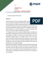 Monólogos Contemporáneos Personaje Femenino Admisión 2018 Teatro