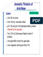 Potentiometric Titration of Acid Base En