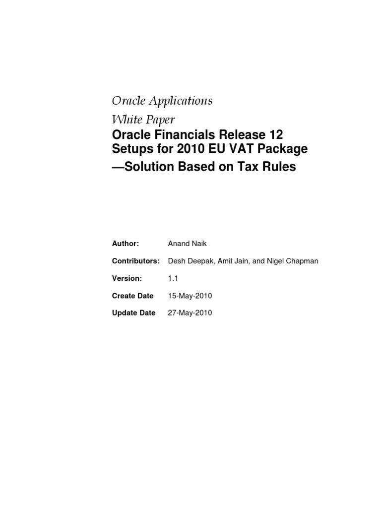 Ebtax Eu Steps Final_v2phase | Invoice | Value Added Tax