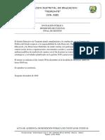 Rendicion de Cuentas Certificacion Hoja de Concepto 2018