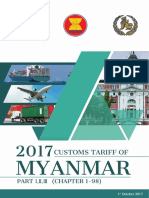 cUSTOMS tARIFF OF mYANMAR