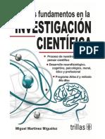 (Miguel Martínez Miguélez) - Nuevos Fundamentos en La Investigación Científica - 1º Edición