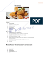 Churros 10 Receitas Deliciosas Frete Gratuito
