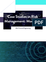 WQU Case Studies in Risk Management Module 3 Compiled Content