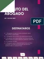 Presentacion del Estatuto Del Abogado en Colombia