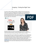 Best Ways of Shopping - Finding the Right Teen Clothing Stores.pdf