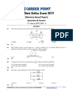 Shift 2 11 Jan JEE Main Physics