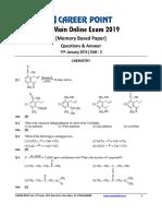Shift 2 11 Jan JEE Main Chemistry
